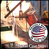 cast bronze signs made in USA